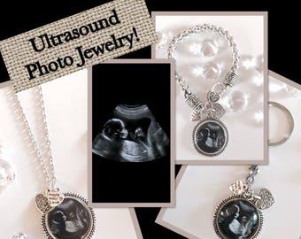 Ultrasound/Sonogram Necklace Bracelet or Keychain