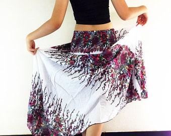 Women Maxi Dress Gypsy Dress Skirt Rayon Dress Skirt Boho Dress Hippie Dress Summer Beach Dress Long Skirt Clothing White (DS33)