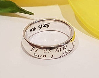 Winnie the Pooh Ring, A.A. Milne, Pooh Bear, Piglet, Friend, Friendship, Adventure, Personalized ring, 925 sterling silver, Handmade