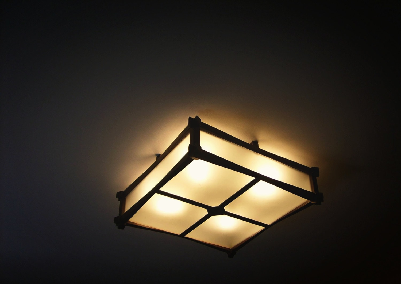 Plafond En Bois Luminaire Lampe Originale Fait La Main
