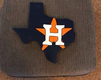 Houston Astros wooden sign