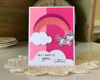 All I Need Is You Pink Card