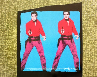 Andy Warhol Elvis heat press transfer iron on for t-shirts, sweatshirts . Warhols double Elvis