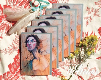 Note Card Set: Painting of a Girl