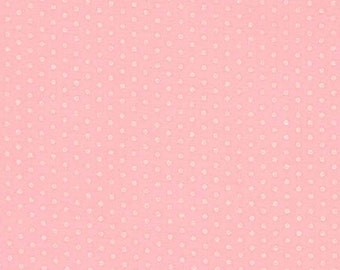 Baby Pink on Pink Tiny Dot Fabric - Spot On from Robert Kaufman. Perfect for baby girls / nursery.  100% cotton. EZCP-12873-123