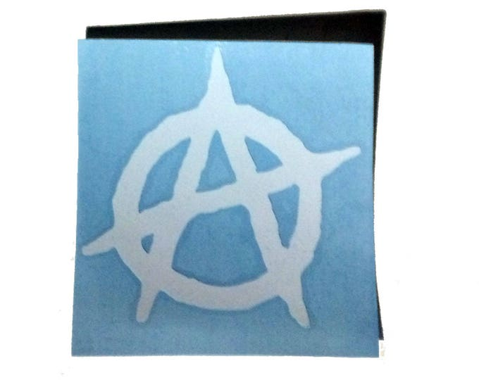 Anarchy Decal, Car Decal, Vinyl Decal, Cyberpunk Car Sticker, Halloween Car Sticker