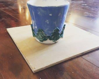 Custom christmas decortive mug/ tumbler.
