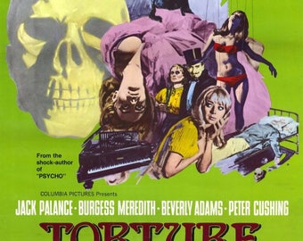 Torture Garden (1967) movie poster 11 x 17 Amicus Productions horror anthology Burgess Meredith Peter Cushing Jack Palance carnival Poe