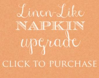 Linen-Like Napkin Upgrade Fee - White Only