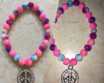 Individual Custom Bracelet (Pink for Peace)