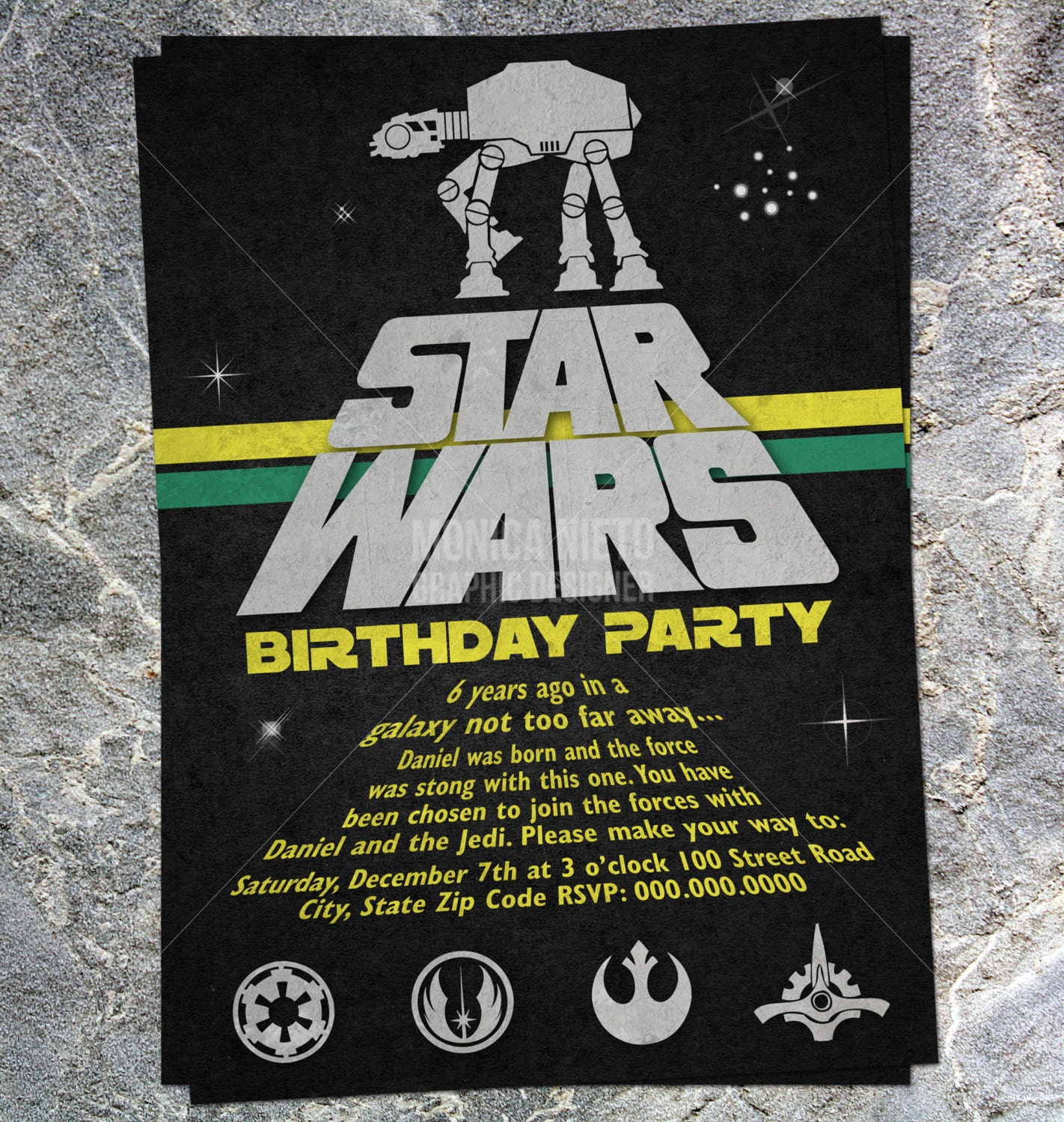 It's just a photo of Slobbery Printable Star Wars Birthday Invitations