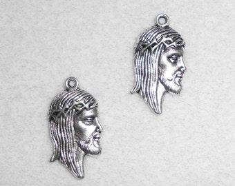 Silver Jesus Charms