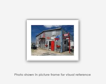 Menemsha Fish Market, Photographs, Photos, Prints, Blank Photo Greeting Card Sets, Martha's Vineyard Photography, Red White Blue Wall Art