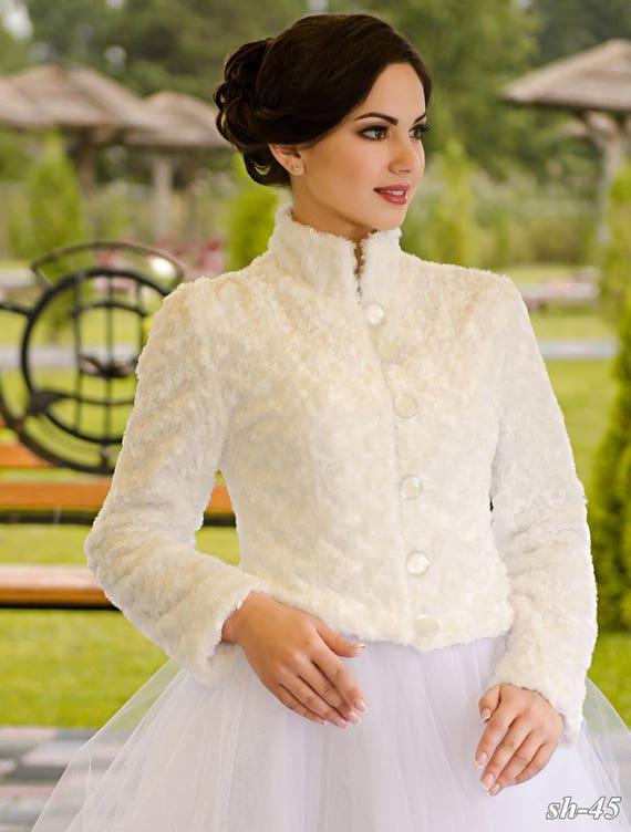 Handmade NYC Wedding Bride Coat ''Lauria'' from wTYraqTBx