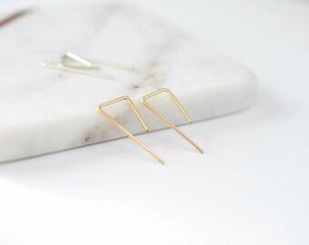 Rose Gold Earrings - Minimal Earrings - Dainty Earrings - 14k Gold Filled Earrings - Simple Everyday Earrings - Gold Jewelry