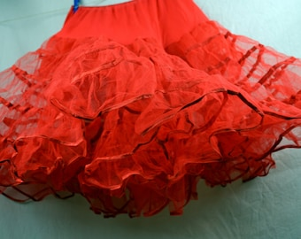 Vintage Red Partners Please Malco Modes Petticoat Tutu Crinolin