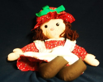 Hallmark christmas rag doll marked aprox 16""
