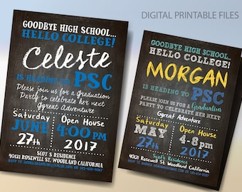 Graduation Invitation Beers and Cheers Graduation Party
