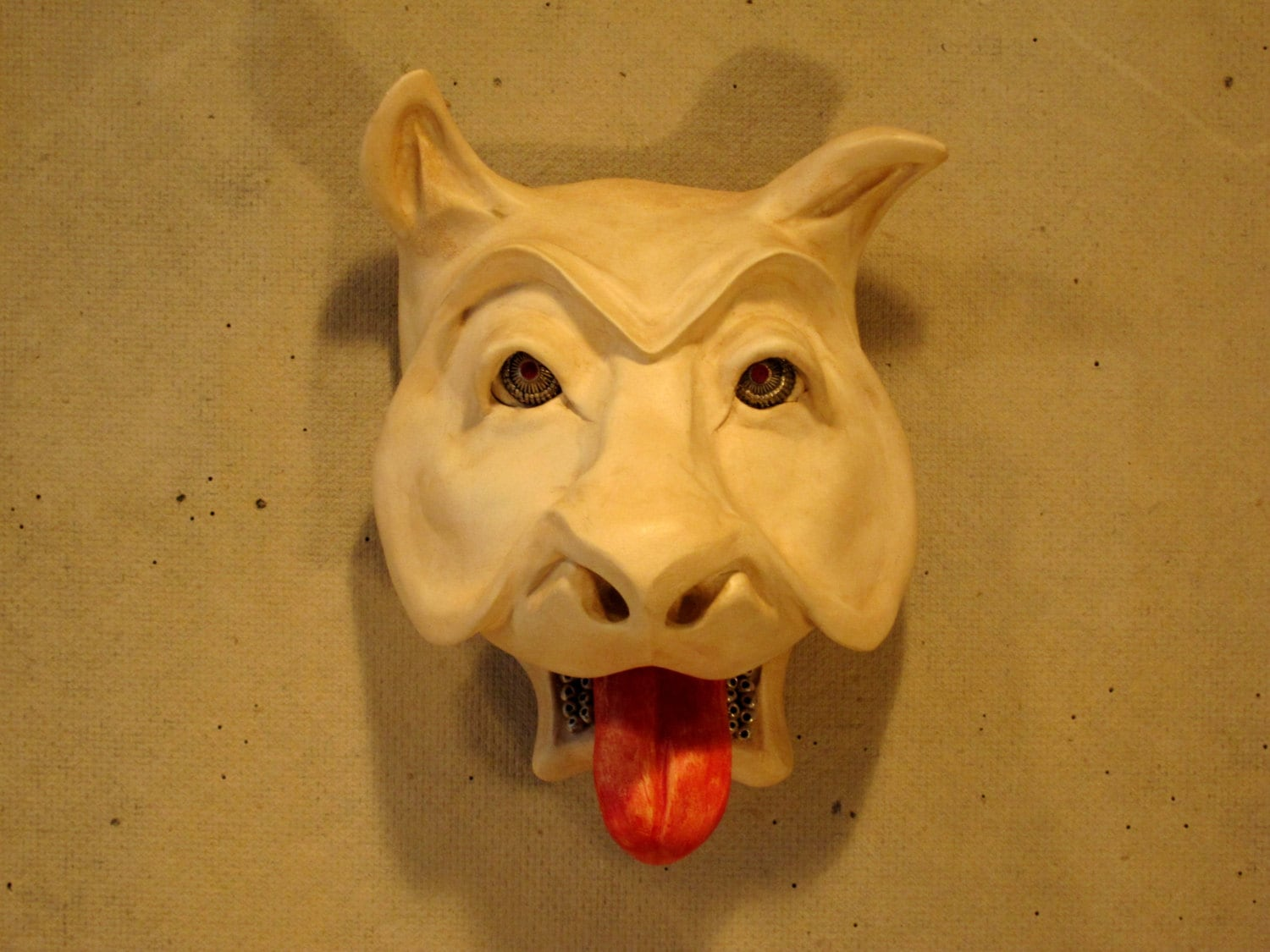 Mask Sculpture Wall Art Paperclay One-of-a-Kind Manimal