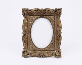 Antique Bronze Baroque Frame, Aged Gold Oval Photo Frame, Charming Paris Chic Nuptials, Parisian Wedding, French Baby Shower, Bridal Mansion
