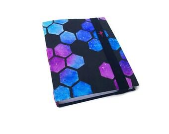 Galaxy Honeycomb Handbound Journal. 320pg. elastic strap