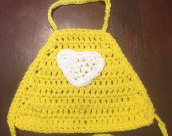 Handmade Crochet Toddler Girls (Yellow) Halter Top Size 2T-3T