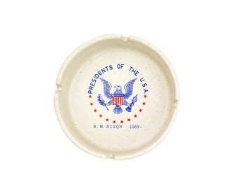 Presidents of the U.S.A. R.M. Nixon Ashtray 1969 -