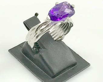 AMETHYST RING , February birthstone , purple amethyst , high finished good quality african amethyst ring, lovely friendship band ........