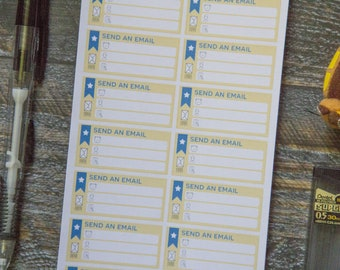 Send an Email Stickers for Weekly Planners / Matte & Writeable