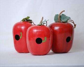 Handpainted Apple Gourd Birdhouse