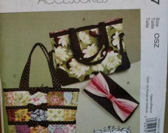 McCalls M5897 Retired  Tote, Bag, Clutch Sewing Pattern New/Uncut