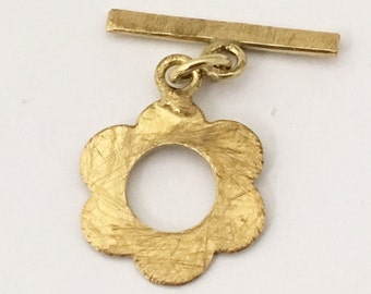 Wholesale Brass Toggle Clasps Brass Flower Clasp - Pack of 30 Flower Toggle Gold Tone Clasps