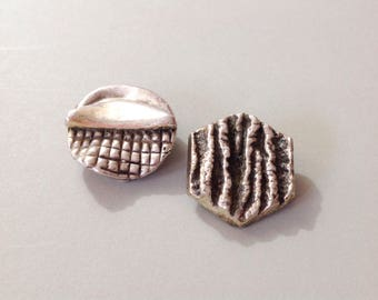 Sterling silver, N. S. Bar-on, sterling earrings, vtg modernist jewelry, sterling modernist, silver modernist, silver earrings,