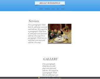WIX Premade Website Template/Wedding services
