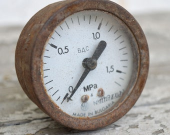 Pressure Gauge - Manometer - Air Gauge - Air Pressure Gauge - Steampunk Gauge - Rusty Pressure Gauge - Pressure Gauges - Not Tested Gauges