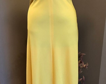Stephen Burrows 70s Buttercup Yellow Avant Garde Maxi Gown/ Modern Day Small