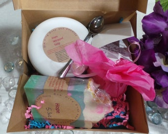 Gift Set of whipped soap, bar soap and bath bomb