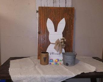 Country decor, Bunny decor, Farmhouse Blessed decor, Easter decor, Primative decor,Home decor,Holiday decor