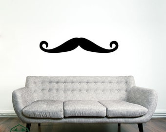 Mustache 2 Wall Decor Decal
