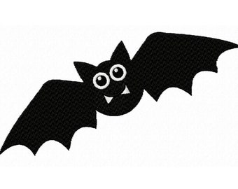 Halloween Bat...Solid Fill Machine Embroidery DESIGN NO. 211