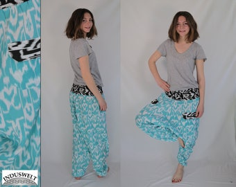 Harem Pant with pockets turquoise
