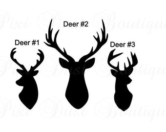 Buck Decal, Deer Head Decal, Hunting Decal, Deer Car Decal, Hunting Car Decal , Deer Hunting, Deer Sticker, Buck Sticker, Hunting Sticker