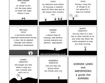 Runner's Card - Running Lingo and Definitions