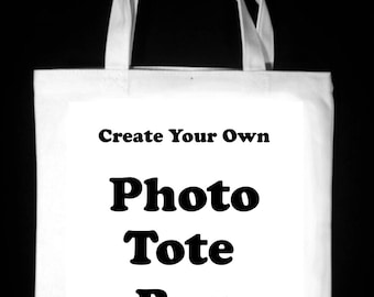 "Create Your Own 13"" x 13""  Photo Tote Bag"