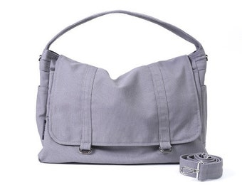 Mother s Day Big Sale ASHTON // Dark Grey / Lined with Beige / 061 // Ship in 3 days // Messenger Bag / Diaper bag / Shoulder bag / Tote bag