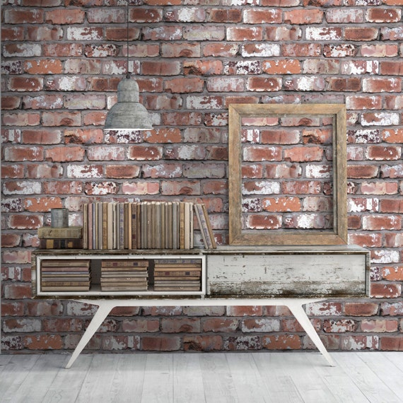 Real Red Brick Effect Wallpaper Paste The Wall 10