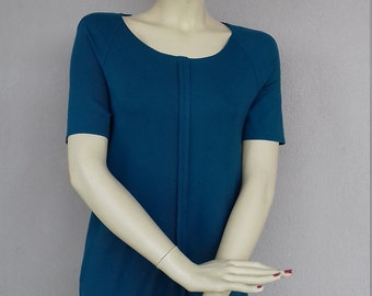 Summer dresses, Womens dresses, dresses for girls, gift for womens, 90s dresses, Teal dresses, Size S dresses, gift for her, zipper dresses,