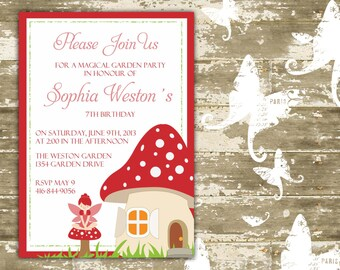Magical Garden Party/Fairy Party Invitation