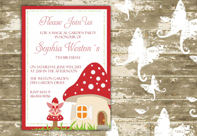 Magical Garden Party/Fairy Party Invitation