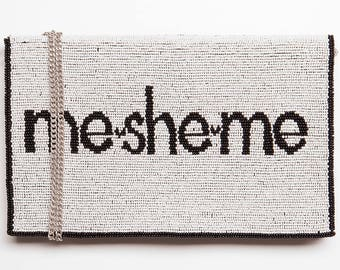 Mesheme Beaded Handbag